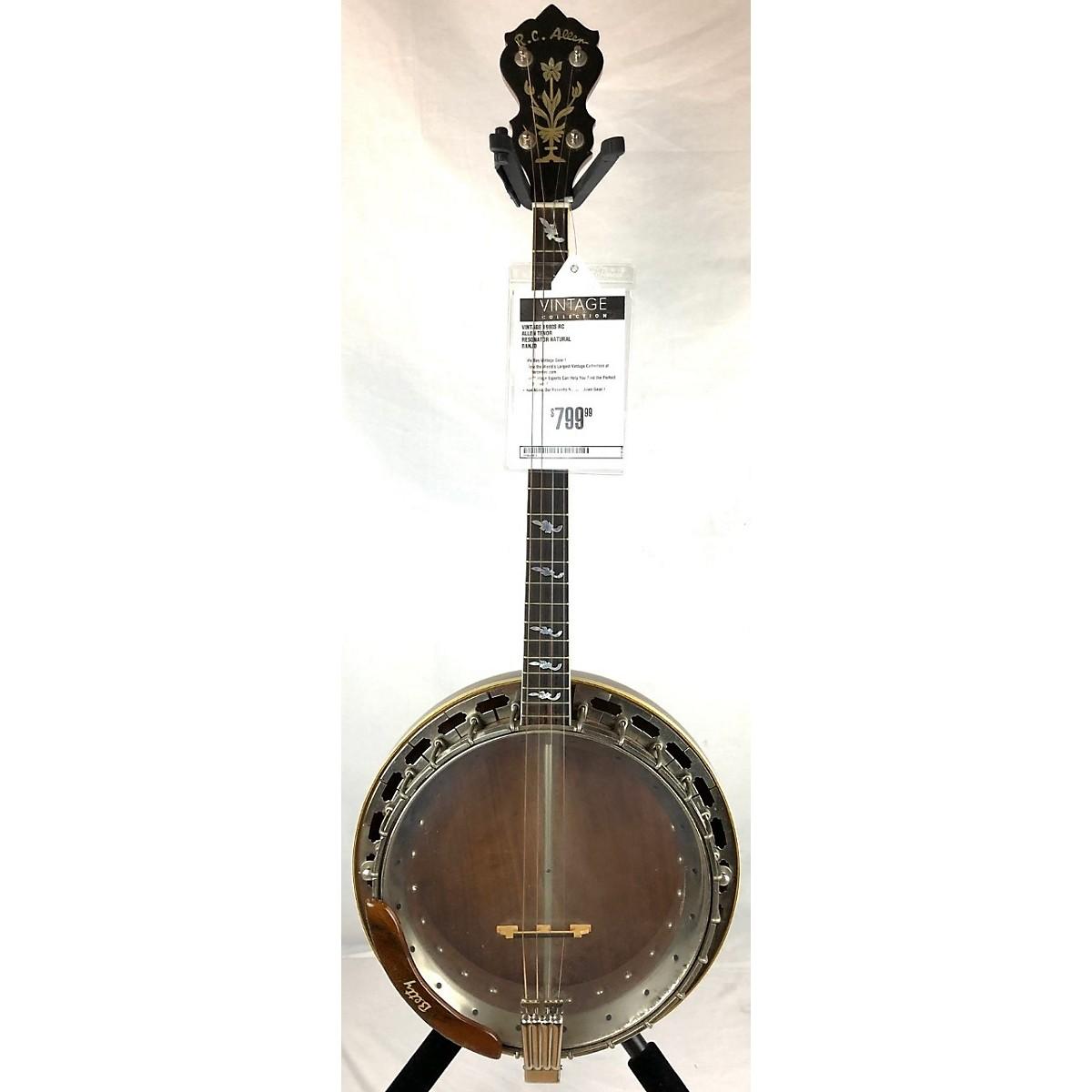 In Store Vintage Vintage 1980s RC Allen Tenor Resonator Natural Banjo