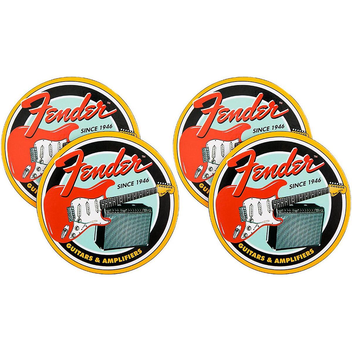 Fender Vintage Guitar & Amp Coaster 4 Pack