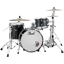Vintage Hybrid Wood Fiberglass Series 3-Piece Shell Pack with 22 in. Bass Drum Piano Black