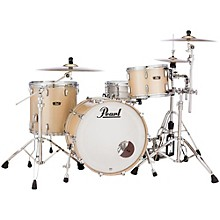 Vintage Hybrid Wood Fiberglass Series 3-Piece Shell Pack with 22 in. Bass Drum Platinum Mist