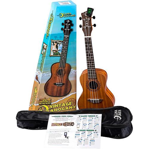 Luna Guitars Vintage Mahogany Concert Ukulele Pack