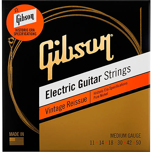 Gibson Vintage Reissue Electric Guitar Strings, Medium Gauge
