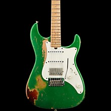Vintage-S Aged Electric Guitar Double Burst Candy Green over 3 Tone Burst