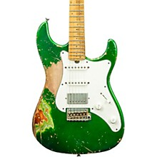Vintage-S Aged HSS Electric Guitar Double Burst Candy Green over 3 Tone Burst