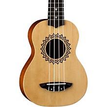 Luna Guitars Vintage Spruce Soprano Ukulele Level 1 Satin Natural