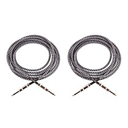 Vintage Voltage Straight-Straight Instrument Cable - 12 ft. - Gray (2 PACK)