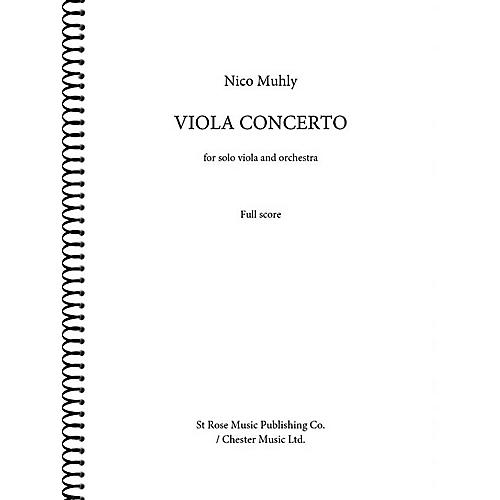 St. Rose Music Publishing Co. Viola Concerto (for Viola and Orchestra (Full Score)) Music Sales America Series Softcover by Nico Muhly