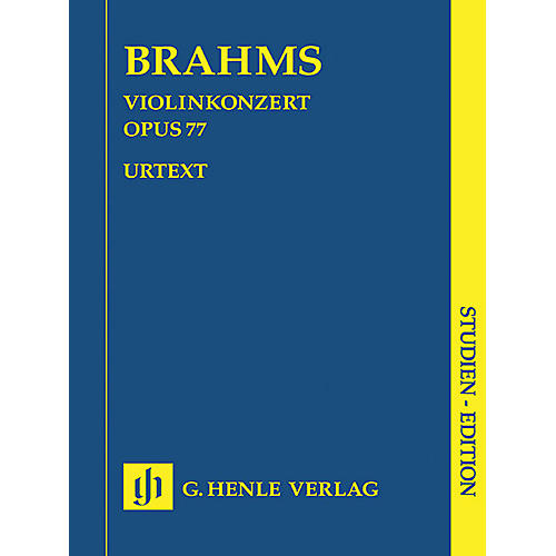 G. Henle Verlag Violin Concerto Op. 77 (Study Score) Henle Study Scores Series Softcover Composed by Johannes Brahms