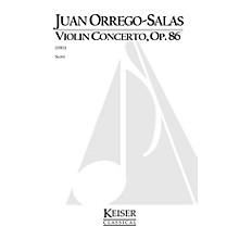 Lauren Keiser Music Publishing Violin Concerto, Op. 86 LKM Music Series Composed by Juan Orrego-Salas
