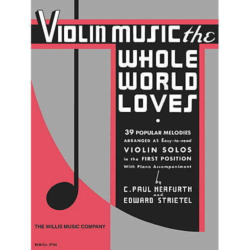 Willis Music Violin Music the Whole World Willis Series