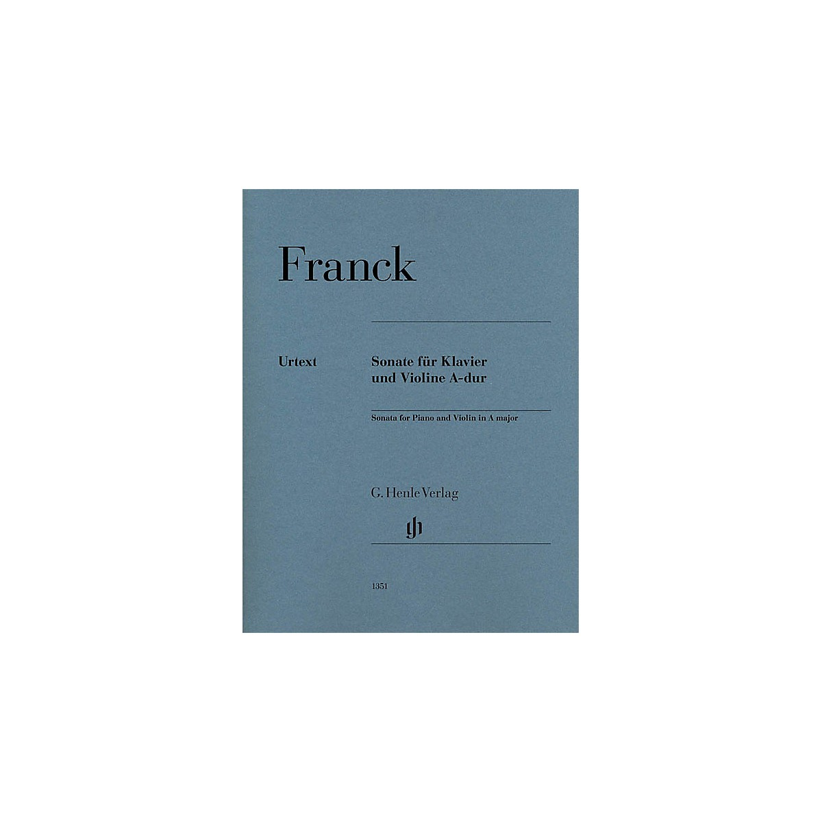 G. Henle Verlag Violin Sonata in A Major (Violin and Piano) Henle Music Folios Series by César Franck
