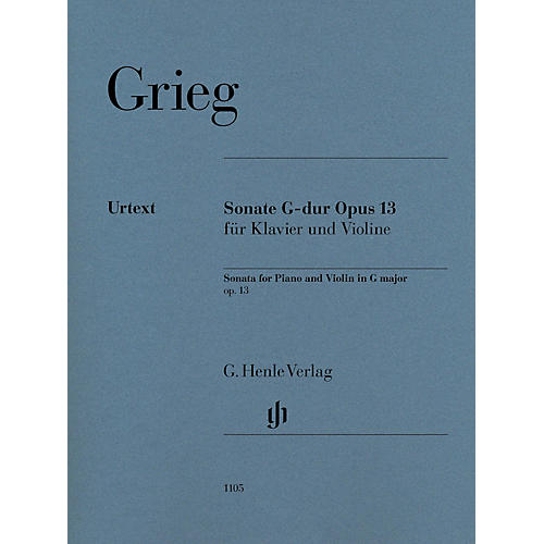 G. Henle Verlag Violin Sonata in G Major, Op. 13 for Violin and Piano