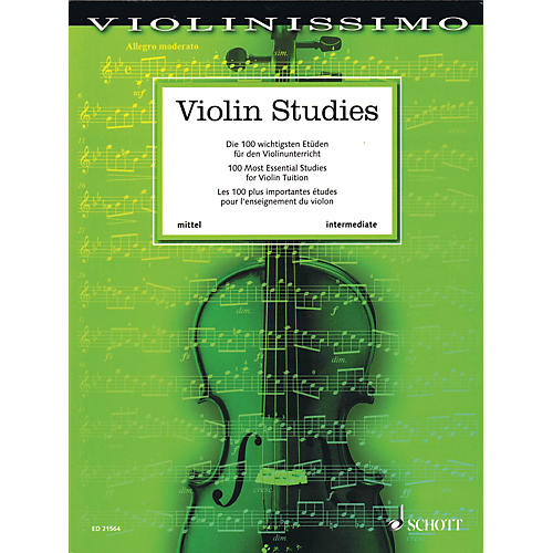 Schott Violin Studies (100 Most Essential Studies for Violin Tuition) String Series Softcover