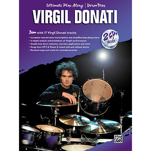 Alfred Virgil Donati Ultimate Drum Play-Along Book with 2 CDs