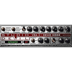 studio devil virtual guitar amp ii software download guitar center. Black Bedroom Furniture Sets. Home Design Ideas
