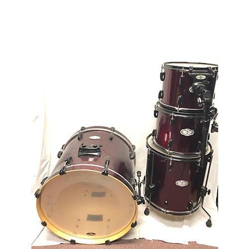 used pearl vision drum kit wine red guitar center. Black Bedroom Furniture Sets. Home Design Ideas