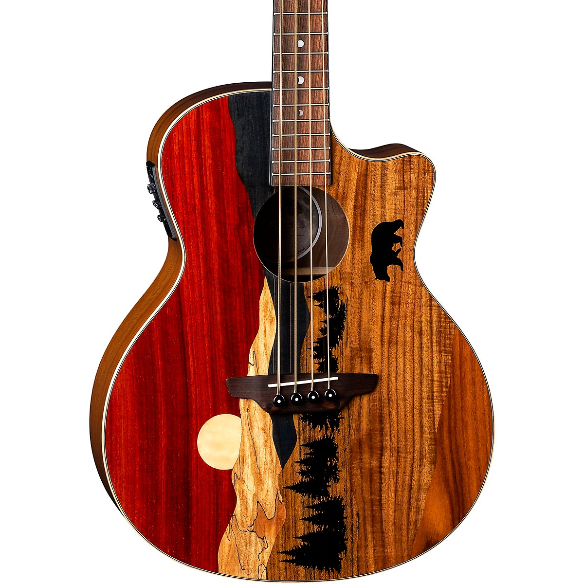 Luna Guitars Vista Bear Tropical Wood Acoustic-Electric Bass