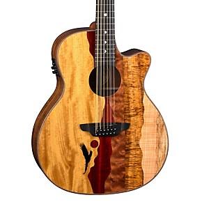 luna guitars vista eagle 12 string acoustic electric guitar natural guitar center. Black Bedroom Furniture Sets. Home Design Ideas