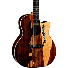 Luna Guitars Vista Mustang Tropical Wood RSW Back Acoustic-Electric Guitar