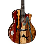 Vista Stallion Acoustic-Electric Guitar with Case Gloss Natural
