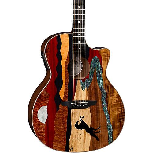 Luna Guitars Vista Stallion Acoustic-Electric Guitar with Case