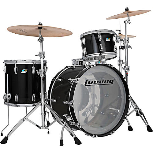 Ludwig Vistalite 3-Piece Pro Beat Shell Pack with 24 in. Bass Drum
