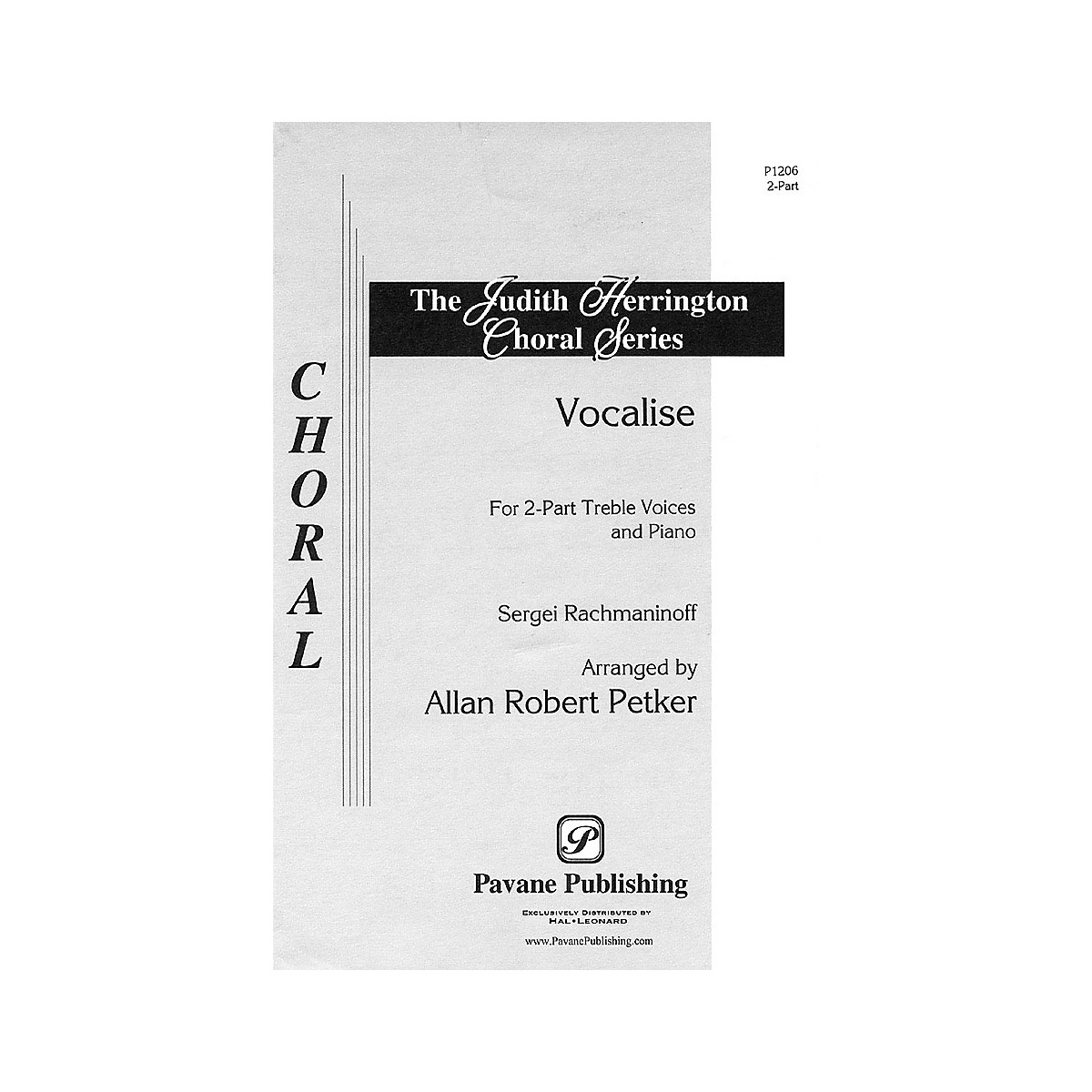 Pavane Vocalise (2-Part and Piano) 2-Part arranged by Allan Petker