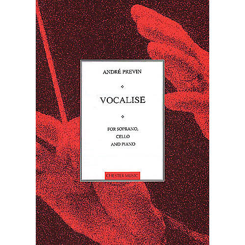 Music Sales Vocalise for Soprano, Cello and Piano Music Sales America Series