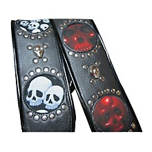 Jodi Head Voodoo Jessee Red Skull with Studs Guitar Strap