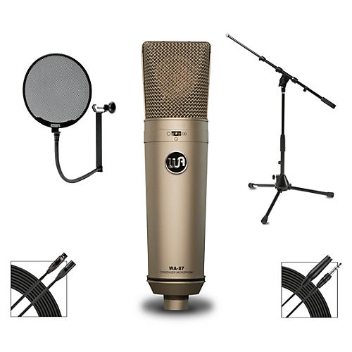 Warm Audio WA-87 Microphone Package With Proscreen XL Pop Filter