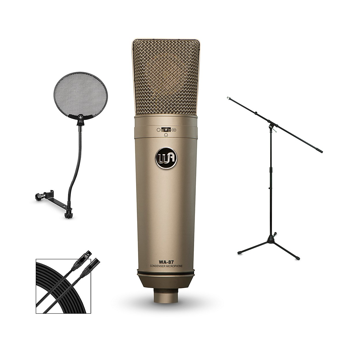 Warm Audio WA-87 Package with STPF1 Professional Pop Filter