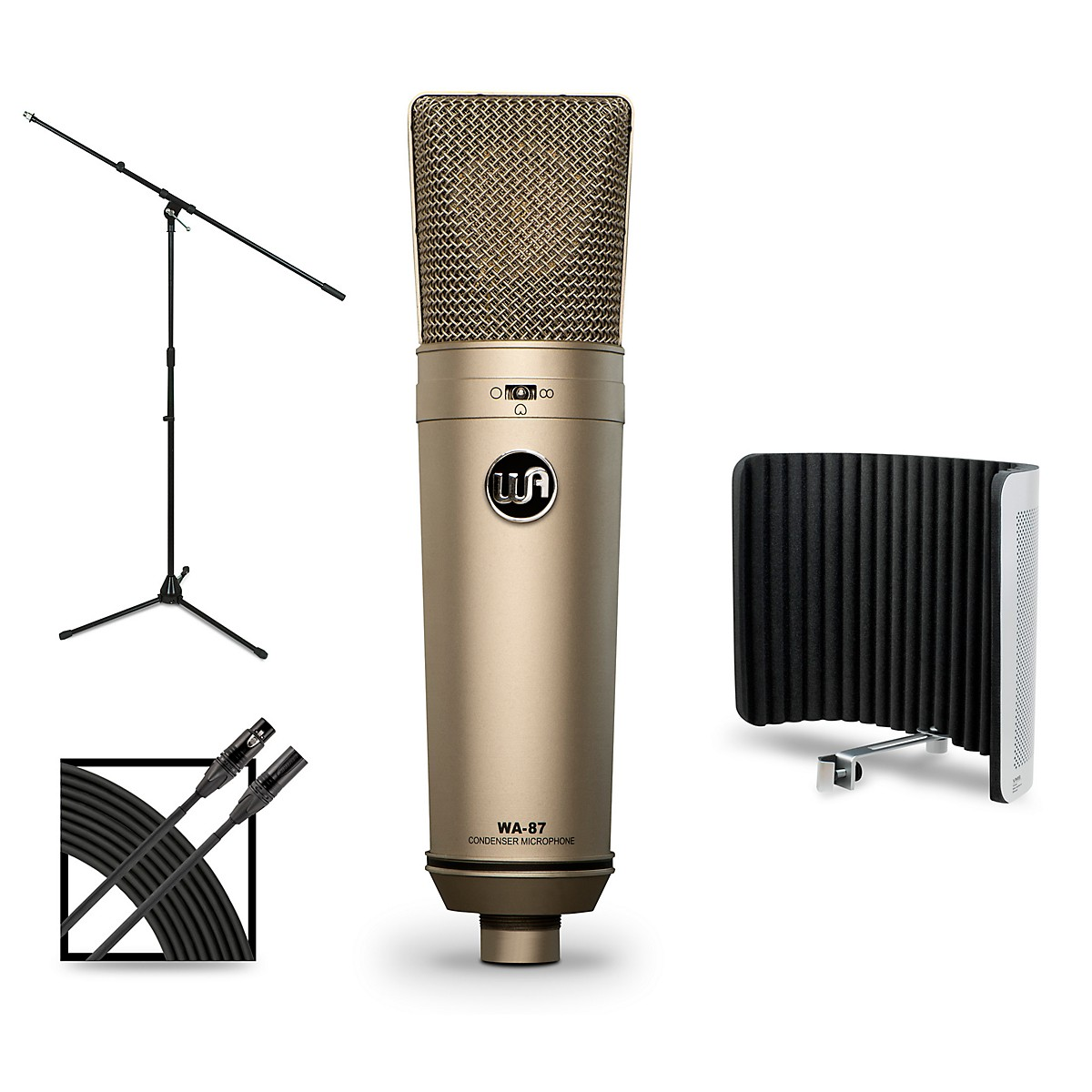Warm Audio WA-87 Package with Sterling Audio VMS Vocal Microphone Shield