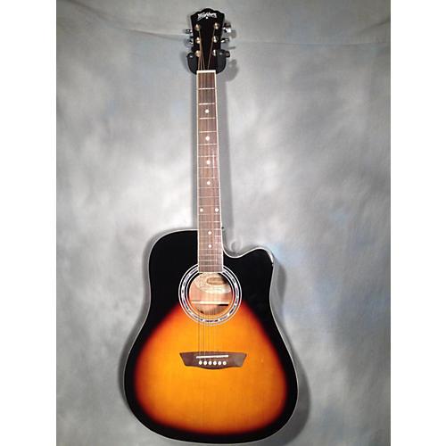 used washburn wa90ce acoustic electric guitar guitar center. Black Bedroom Furniture Sets. Home Design Ideas