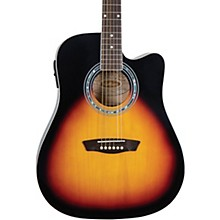 washburn guitars guitar center  washburn wa90ce dreadnought acoustic electric guitar