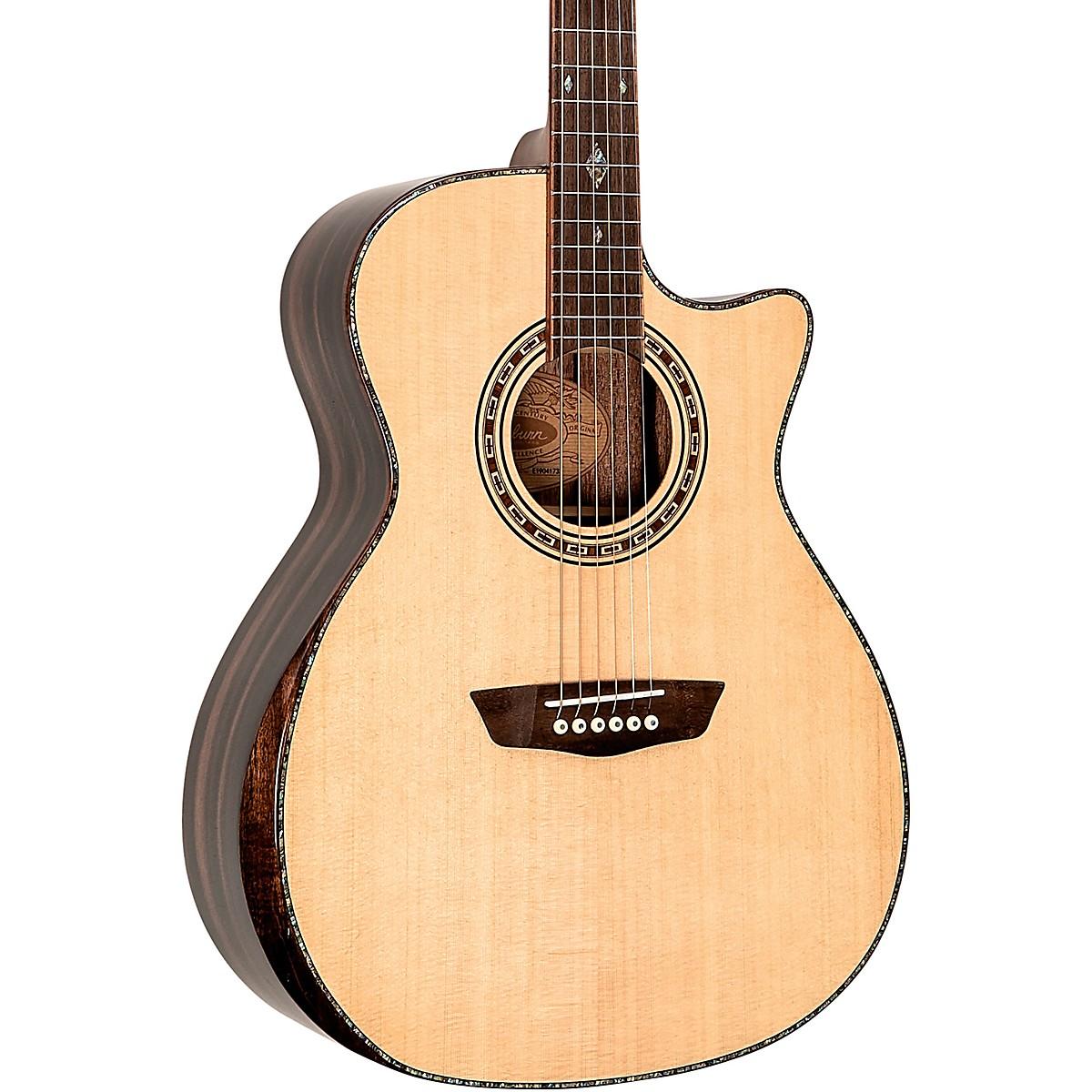 Washburn WCG80 Comfort Series Grand Auditorium Cutaway Acoustic-Electric Guitar