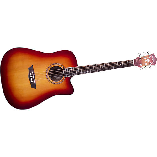Washburn WD 7SCEA Dreadnought Cutaway Acoustic-Electric Guitar
