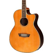Washburn WG26SCE Solid Cedar Top Acoustic Cutaway Electric Grand Auditorium Rosewood Guitar with Fishman Preamp And Tuner
