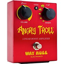 Way Huge Electronics WHE101 Angry Troll Boost Guitar Effects Pedal Level 1 Red