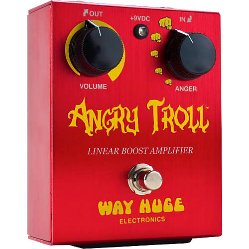 way huge electronics whe101 angry troll boost guitar effects pedal guitar center. Black Bedroom Furniture Sets. Home Design Ideas