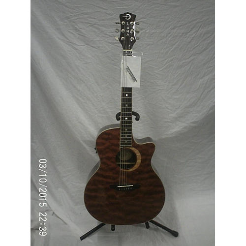 used luna guitars wl bubinga acoustic guitar woodland bubinga guitar center. Black Bedroom Furniture Sets. Home Design Ideas