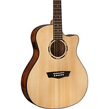 Washburn WLO10SCE Woodline 10 Series Acoustic-Electric Guitar