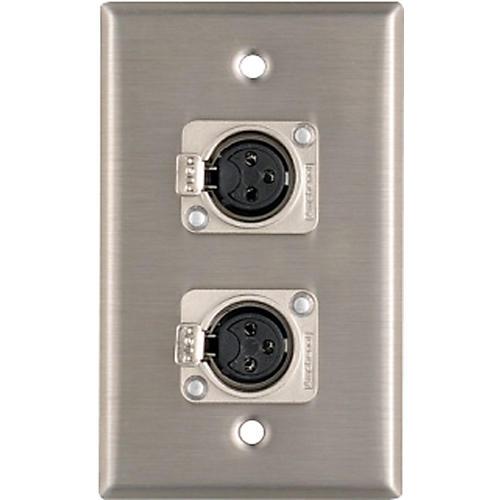 Pro Co WP1013 Dual XLR Female Wall Plate