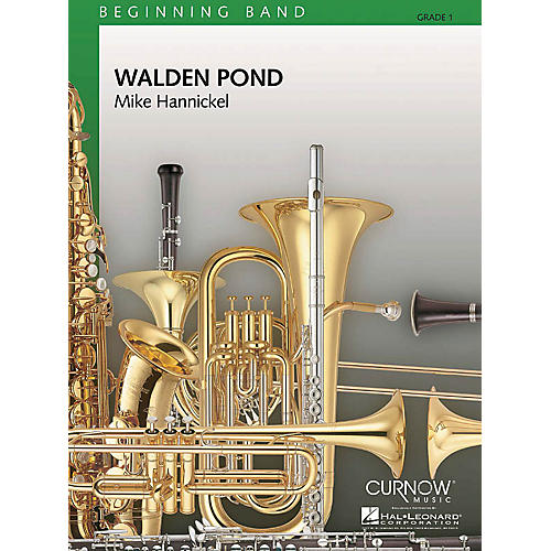 Curnow Music Walden Pond (Grade 1 - Score Only) Concert Band Level 1 Composed by Mike Hannickel