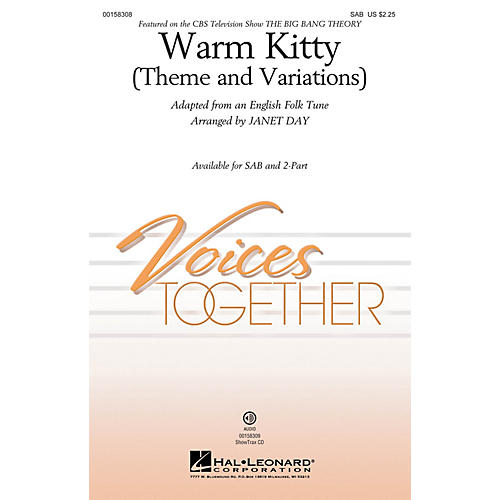 Hal Leonard Warm Kitty (Theme and Variations) ShowTrax CD Arranged by Janet Day