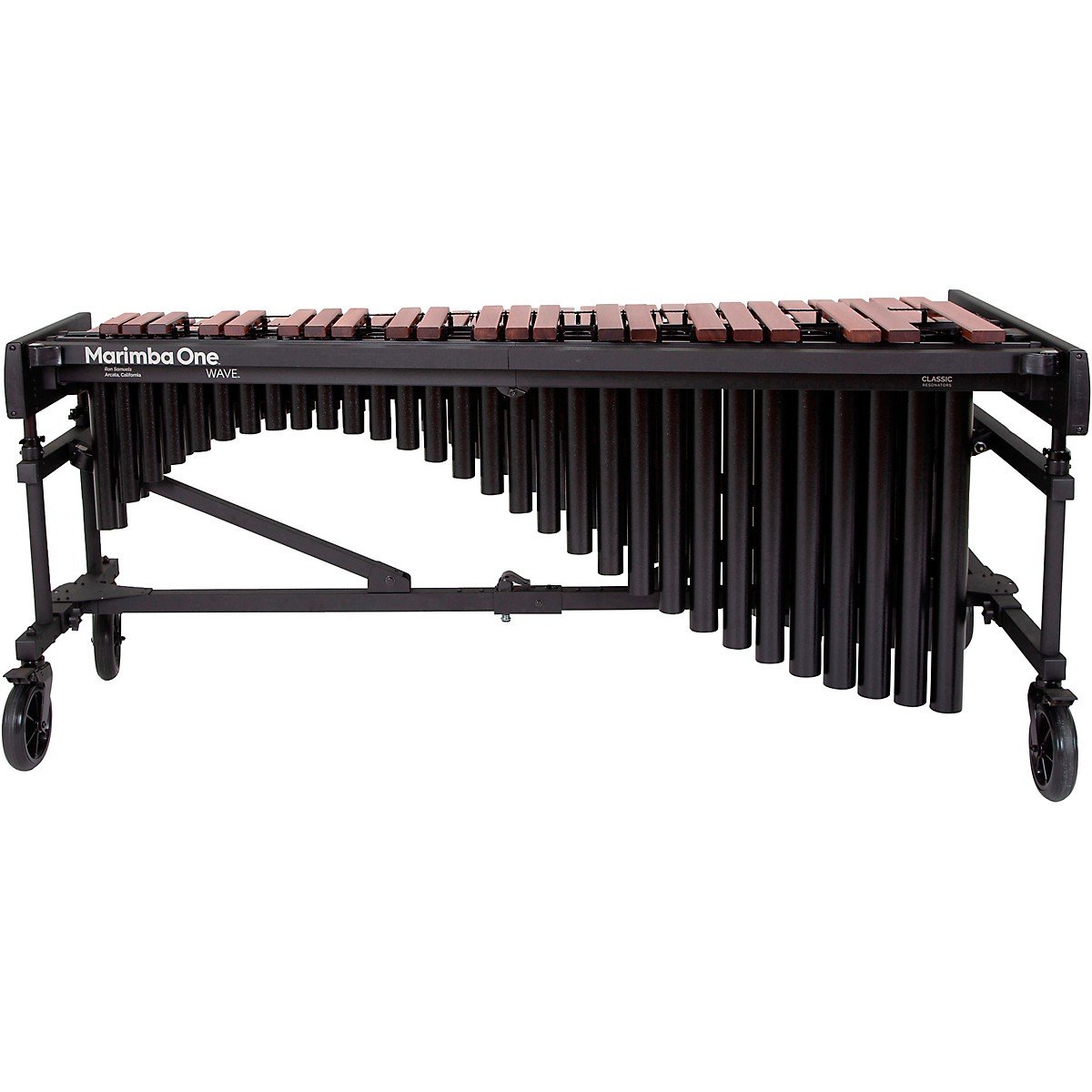 Marimba One Wave #9631 A440 4.3 Octave Marimba with Traditional Keyboard and Classic Resonators 8