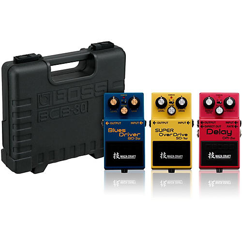 BOSS Waza Craft (Delay, Overdrive, Blues) Collection with Free BCB30 Pedal Board