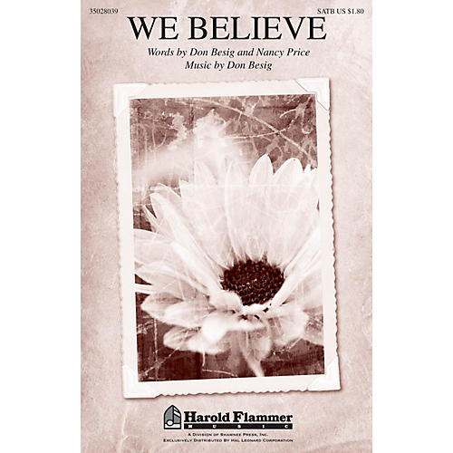 Shawnee Press We Believe SATB composed by Don Besig