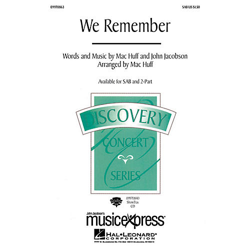 Hal Leonard We Remember ShowTrax CD Composed by John Jacobson