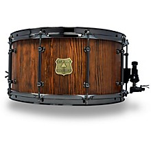 OUTLAW DRUMS Weathered Douglas Fir Stave Snare Drum with Black Chrome Hardware