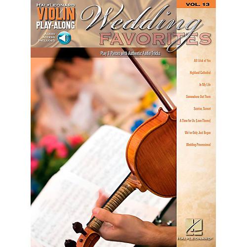 Hal Leonard Wedding Favorites - Violin Play-Along Volume 13 Book/CD